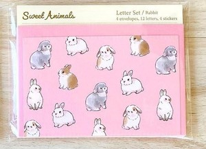 Writing Papers & Envelope Animals Rabbit Japan Letter