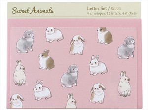 Writing Papers & Envelope Animals Rabbit made Japan Letter