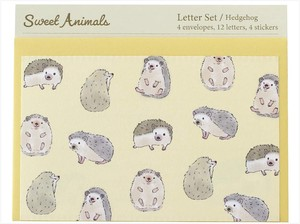Writing Papers & Envelope Animals Hedgehog made Japan Letter