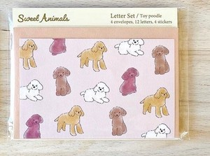 Writing Papers & Envelope Animals Toy Poodle Japan Letter
