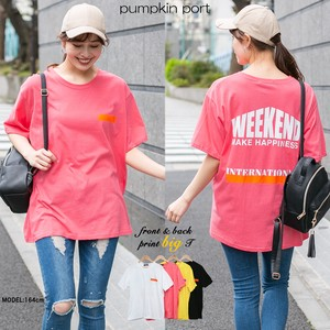 [ 2020NewItem ] Korea Cotton One Point Bag Print Big Long T-shirt