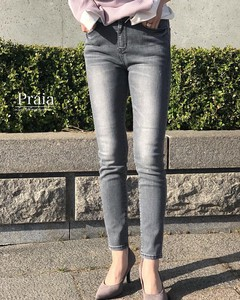Gray Tapered Skinny Pants
