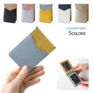 Artificial Leather Color Scheme Commuter Pass Holder