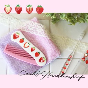 Adult Women Comb Handkerchief Set Strawberry