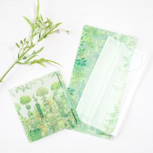 たためる抗菌マスクケース「緑の文明」《空想街雑貨店》