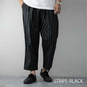 [ 2020NewItem ] Chef Pants Men's Stretch Wide Tapered Plain Stripe Pants