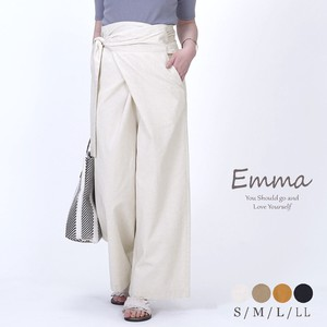 Cotton Wrap Pants wide pants Healthy