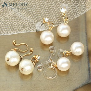 Made in Japan made Pearl Cotton Pearl Hall Pierced Earring Earring Pierced Earring
