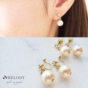 Cotton Pearl Hall Pierced Earring Earring Pierced Earring