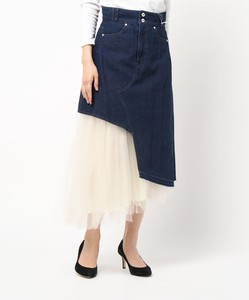 Skirt Attached Denim Skirt