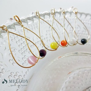 Drop Resin Hall Pierced Earring Earring Metal