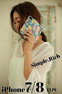 iPhone Floral Pattern Notebook Type Case