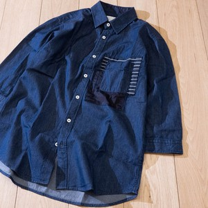 Denim Pocket Mick Three-Quarter Length Shirt