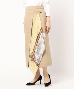 Map Panel Scarf Print Color Scheme reed Design Skirt Bespoke Print
