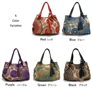 """2020 New Item"" Balloon Bag Tassel Embroidery S/S Commuting Light-Weight Trip A4 Tote"