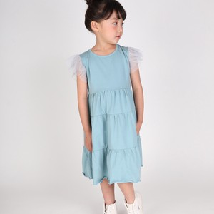S/S Jersey Stretch Frill One-piece Dress