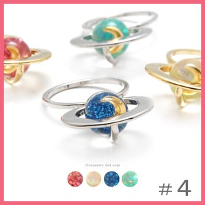 Clear Ball Saturn Ring Size 4