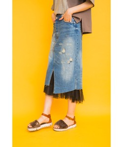 Skirt Remake Denim Skirt Inner Removable