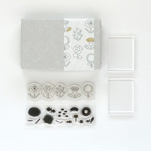 JIZAI Clear Stamp Picture Coloring set Flower