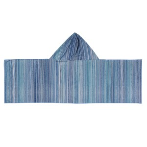 Water Towel With Hood Blue Line