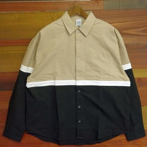 A/W Switching Band Color Shirt Long Sleeve Shirt