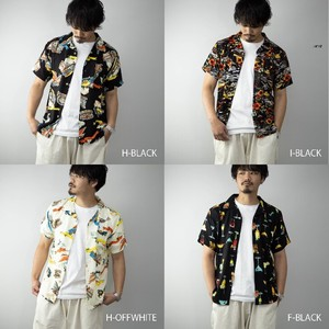 [ 2020NewItem ] Aloha Shirt Men's Short Sleeve Open Color Rayon Shirt Casual Top