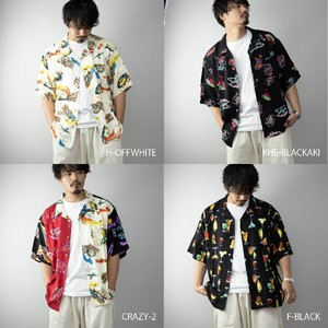 [ 2020NewItem ] Aloha Shirt Men's Short Sleeve Rayon Big Silhouette Over Shirt Shirt