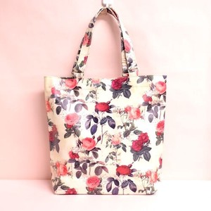 Redoute Rose Tote Bag Light-Weight Waterproof Inside Pocket Attached