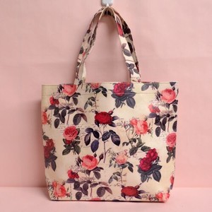 Redoute Rose Tote Bag Light-Weight Waterproof