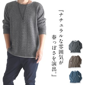 Stripe Fake Layard Layering Men's Plain Casual Top Long Sleeve