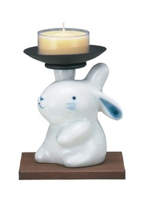 Ornament Candle Stand Rabbit Candle