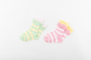 2 Pairs Socks Colorful Ribbon