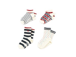 4 Pairs Socks Marine With Non-Slip Baby Kids Kids