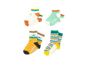 4 Pairs Socks Colorful Animal With Non-Slip Baby Kids Kids