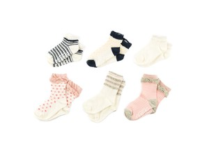 6 Pairs for Kids Socks Basic With Non-Slip Baby Kids Kids