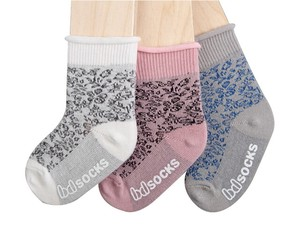 Kids Needle Punching Repeating Pattern Socks