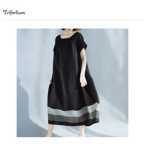 [ 2020NewItem ] Material Leisurely Silhouette Switching One-piece Dress