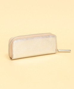 Cow Leather Metallic Accessory Case
