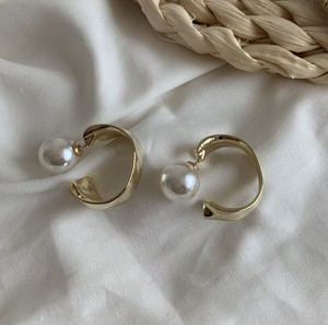 2Way Behind Pearl Pierced Earring