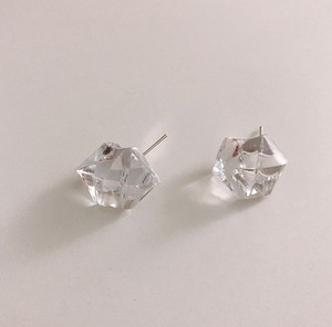 Transparency Block Pierced Earring