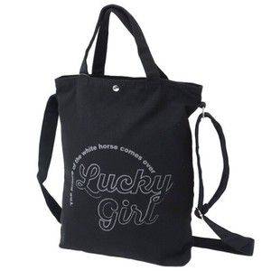Lucky Girl Canvas Shoulder Tote