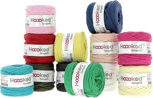 Hoooked Zpagetti Yarn color Plain Set of Assorted