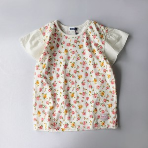 Jersey Stretch Repeating Pattern Frill T-shirt