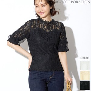 Lace Combi Half Length Top