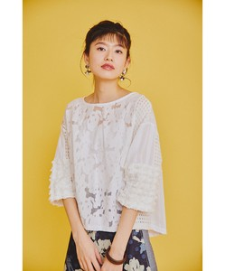 Lace Jacquard Patchwork Blouse