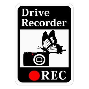 Drive Recorder Sticker Camera Magnet
