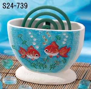 Japanese summer features Ornament Interior Handmade Mosquito Coil Stand Goldfish