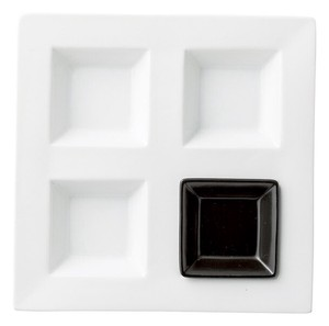 Style Partition Square Plate China Porcelain