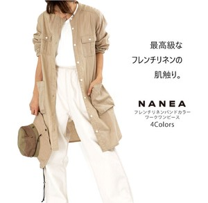 [ 2020NewItem ] French Linen Band Color Work One-piece Dress