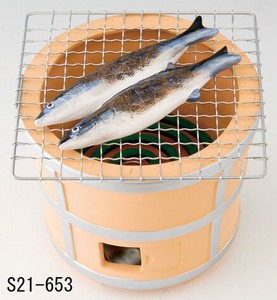 Japanese summer features Ornament Interior Mosquito Coil Stand Grilled Racific Saury